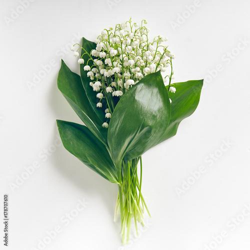 Staande foto Lelietje van dalen Bouquet Lily Of The Valley