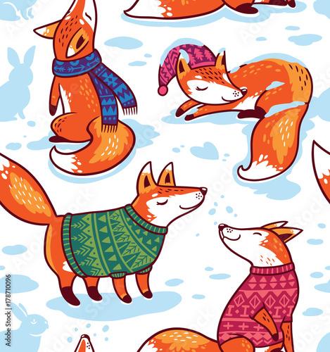 sniezny-wzor-z-lisow-kreskowek-w-przytulnych-swetrow