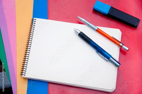 stationary for school and business top view buy this stock photo