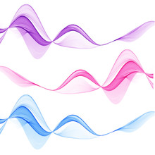 Set Of Abstract Multicolored Lines