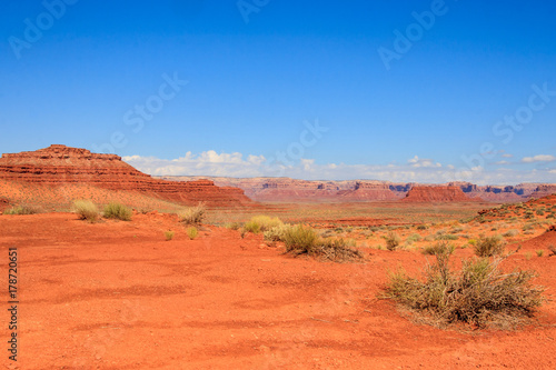 Deurstickers Oranje eclat Utah Landscape