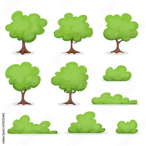 Foto  Trees, Hedges And Bush Set
