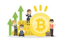 Bitcoin Concept Illustration.