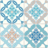 Portuguese tiles, Quatrefoil  seamless pattern. Vector illustration. - 178724246
