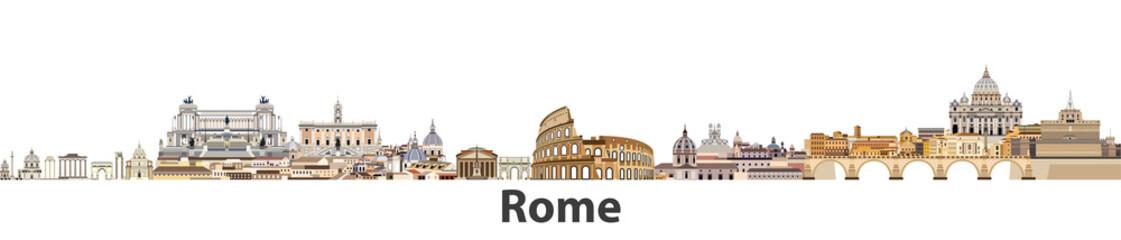 Fototapeta Rzym Rome vector city skyline