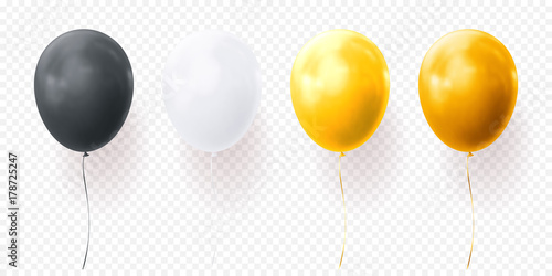 Fotografia, Obraz Colorful balloons vector on transparent background