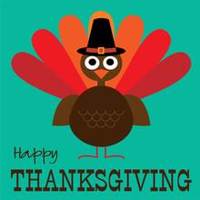 Thanksgiving Cute Turkey Grap...