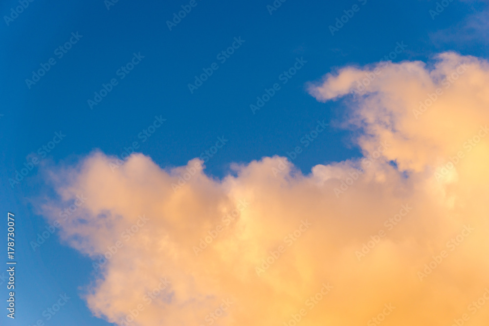 f9c400815 Fotografie, Obraz orange clouds in front of blue sky | Posters.cz