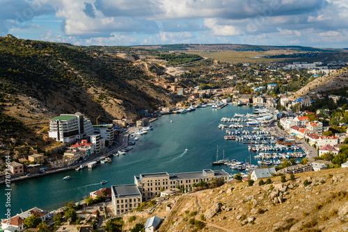 Foto op Aluminium Kust Top view of the Balaklava bay in the summer