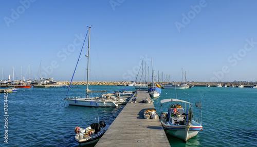 Foto op Aluminium Cyprus Marina at fishing village of Zygi, Cyprus