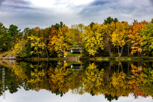 Fall Colours in Algonquin National Park, Ontario, Canada Canvas Print