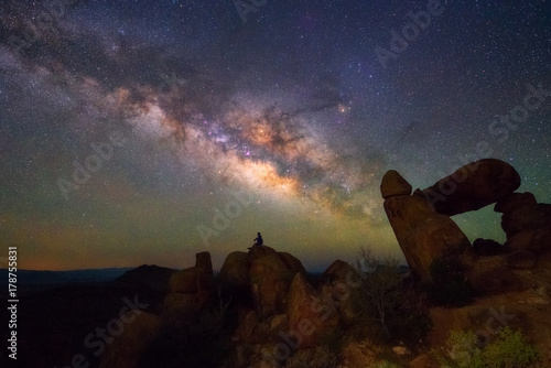 Milky way at Big Bend National Park Canvas Print