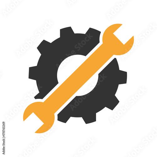 Fotografía Maintenance or troubleshooting icon or symbol flat design.