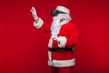 Santa Claus Wearing Virtual Re...