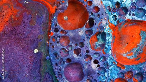 Complex Purple And Red Blue Vibrant Bright Paint Oil Color Swirls Entropy Con Licencia