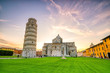 canvas print picture - Pisa Cathedral and the Leaning Tower