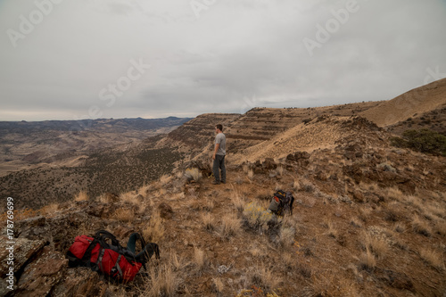 Fotografie, Obraz  Enjoying Mountain Summit After Backpacking near the Painted Hills 4