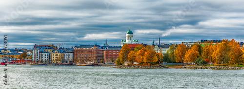 Obraz na plátně Helsinki city view