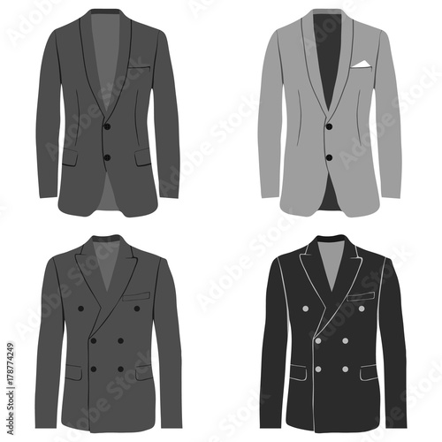 Valokuvatapetti Men's jacket, double-breasted and single-breasted jacket, costume