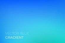 Color Gradient Background Of Blue. Abstract Modern Trendy Vector Soft Color Gradient Background With Light Effect For Natural Sky Or Ocean Water Marine Blend Backdrop Design Template