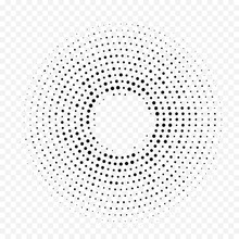 Halftone Circle Dot Pattern Ba...