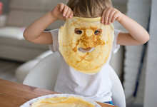 Little Boy With A Pancake Inst...