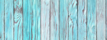 Aquamarine Wooden Planks, Faded Wood Surface Rustic Blue Table Wallpaper
