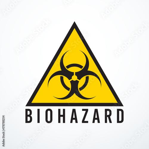 Vector biohazard sign Canvas Print