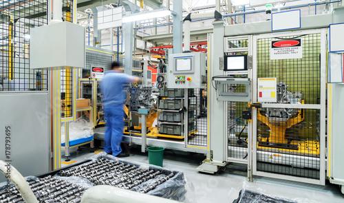 Obraz Automobile production line - fototapety do salonu