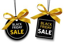 Black Friday Sale Tag With Gol...