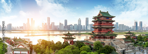 Photo Stands Historical buildings Chinese Classical Architecture