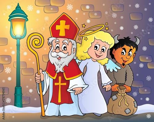 Saint Nicholas Day theme 5 Canvas Print