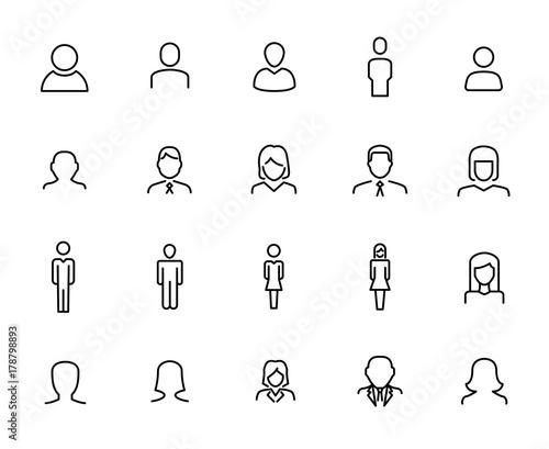 Fotografie, Obraz  Premium set of user line icons.