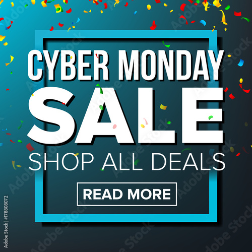 cyber monday sale banner vector business advertising illustration