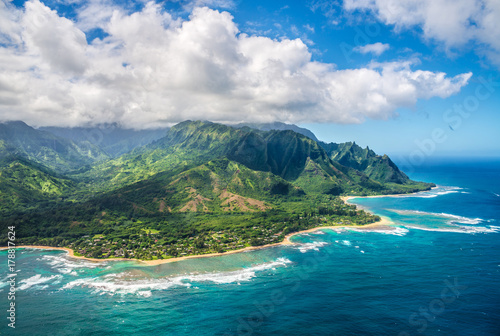 Aluminium Prints Coast View on Napali Coast on Kauai island on Hawaii