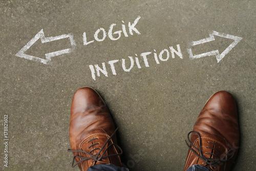 Fotografie, Obraz  Entscheidung: Logik oder Intuition