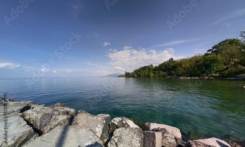 Fotobehang Oceanië Panorama sur le lac Léman