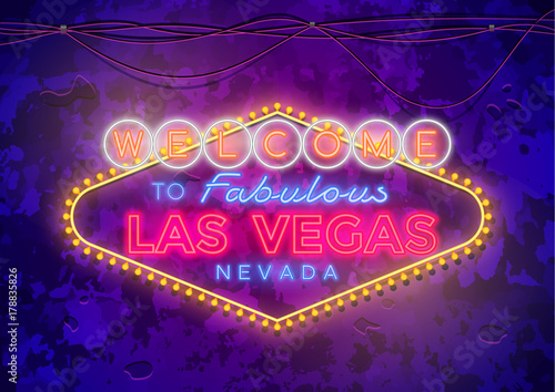 Photo  Neon Las Vegas Sign