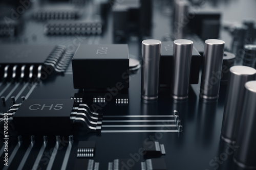 Valokuva 3D rendering Central Computer Processors CPU concept