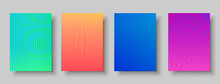 Modern Abstract Background Set Of Color Patterns