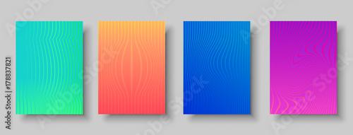 Obraz na plátně  Modern abstract background set of color patterns