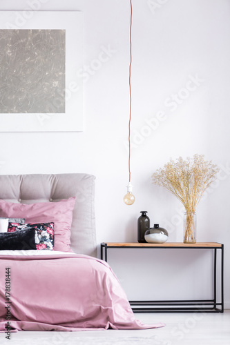 Fototapety, obrazy: Nightstand in classic style bedroom