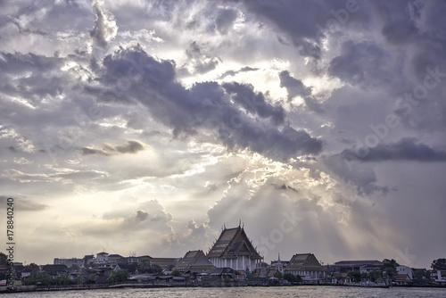Chao Phraya river, sunset Canvas