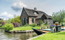 Traditional Dutch House In Gie...