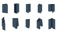 Blank Folded Fold Paper Leafle...