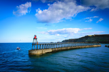 Whitby Pier At The Harbor Entr...