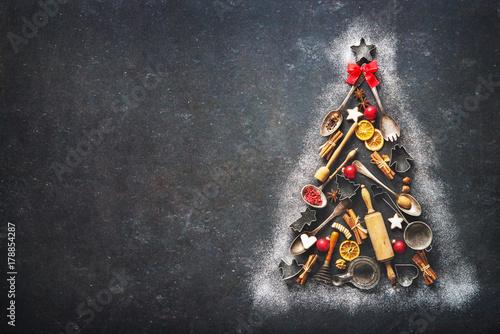 Fotomural  Christmas baking background