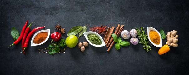 Fototapeta Przyprawy Various herbs and spices
