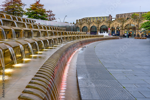 Staande foto Treinstation Train Station Sheffield Yorkshire