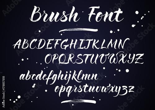 Brush lettering vector alphabet Canvas-taulu